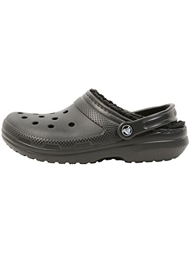 Crocs Classic Lined Clog, Zuecos Unisex, Negro, 36/37 EU