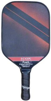 Engage Poach Icon Pickleball Paddle   USAPA Approved   Textured FiberTEK Fiberglass Face & ControlPRO Polymer Core   Standard Weight