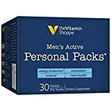 Men's Active Personal Multivitamin Packs, Supports Men's Health, Energy Production and Immune, (30 Single Serving Packets) by the Vitamin Shoppe