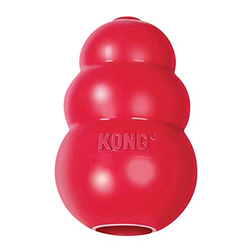 KONG - Classic Dog Toy, Durable Natural Rubber-...