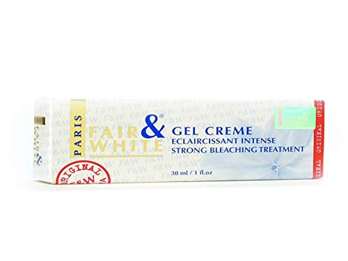 Fair & White Original Whitening Gel Cream 30ml - Bleaching Treatment, Skin Lightening Properties, with 1.9% Hydroquinone