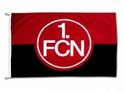 1. FC Nürnberg FCN Hissfahne Fahne 150cm x 100m rot-schwarz
