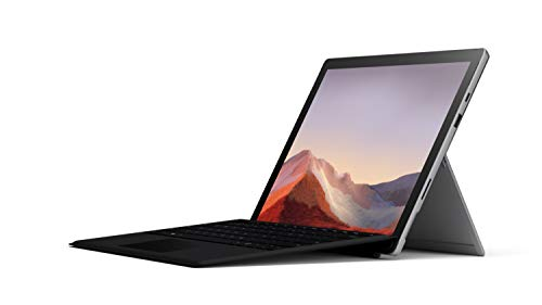 """Microsoft Surface Pro 7 12.3"""" Tablet (Platinum) - Intel 10th Gen Quad Core i5, 8GB RAM, 128GB SSD, Windows 10 Home, 2019 Edition, and Black Type Cover"""
