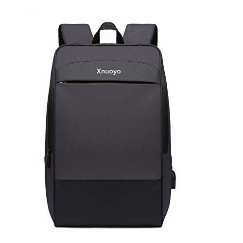"""Xnuoyo Zaino per Portatili 17.3"""" Zaino Laptop Impermeabile di Ricarica USB,Zaino per PC Portatile da Borsa per Lavoro Scuola Viaggio Uomo e Donna (Nero)"""