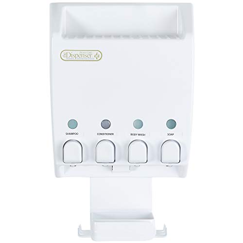 Better Living Products 75453 Ulti-Mate Dispenser 4-Chamber Shower Caddy, White