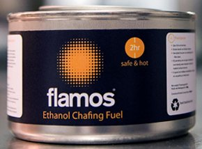 Flamos Ethanol Chafing Fuel 2.5 Hour Burn Time Each Pack of 10
