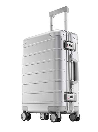 """Xiaomi Mi Metal Carry-on Luggage 20"""" (31 Liter) Hartschalen Trolley Koffer Rollkoffer aus hochwertiger Aluminium/Magnesium Legierung mit 4 Rollen und zweifachem TSA-Zahlenschloss"""