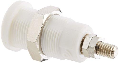 Pomona 72930-9 - Presa a pannello IEC 61010, 0,16 pollici, per spina guainata, confezione da 10, colore: Bianco
