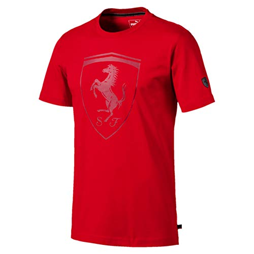 PUMA Ferrari Big Shield Men's Tee Rosso Corsa M