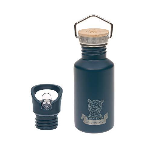 LÄSSIG Edelstahlflasche mit zusätzlichem Sport Cap 500 ml Adventure Outdoor blue