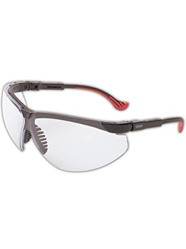 Uvex by Honeywell Genesis XC Safety Glasses, Black Frame with Clear Lens & Uvextreme Anti-Fog Coating  (S3300X)