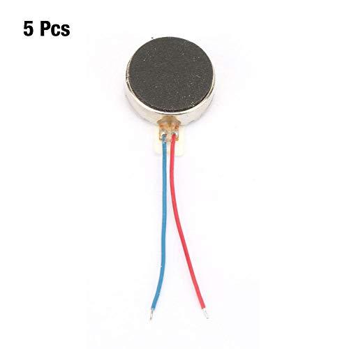 Motor vibrador plano, 5Pcs DC3V Cell Pager Coin Micro motor vibrador plano para teléfonos móviles Pager Pulsera inteligente Equipo de vibración electrónica 12x3.4mm