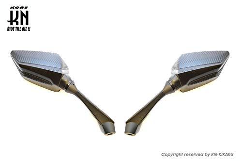 KN企画 KOSO NMAX CB400SF MT09 MT07 XSR XMAX250 CB1300 PCX CB1000 Z650 バックミラー 車検対応 クリアーレンズ