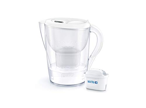BRITA Marella XL German Engineered Water Filter Jug 3.5 liters White With Activated Micro Carbon...