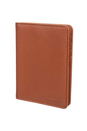 SAMSONITE Global Travel Accessories - ID Leather Custodia per passaporto 14 centimeters 1 Marrone (Cognac)