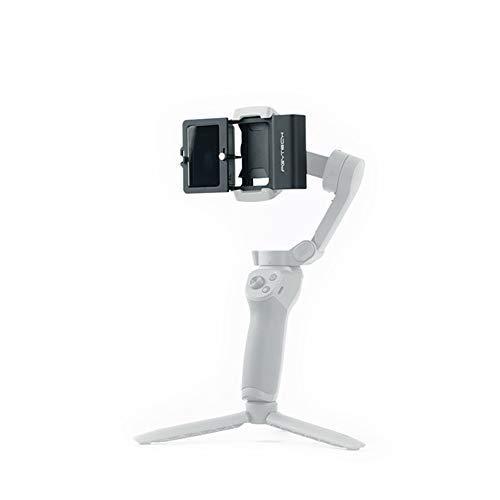 Hensych Adattatore in lega di alluminio per action camera + per giunto cardanico, staffa di supporto stabilizzatore per OSMO Action, per GoPro 3/3+/4/5/6/7, XIAO YI 4K, OSMO Mobile 3/2