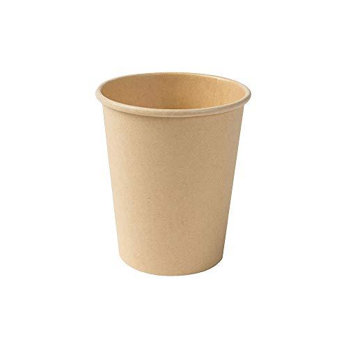 BIOZOYG Bicchieri Monouso Compostabili Bio I Bicchieri USA e Getta Bicchieri di Carta con Rivestimento in PLA I 1000 Tazze di Cartone da caffè da Asporto Marrone Non Sbiancate 200 ml 8 oz