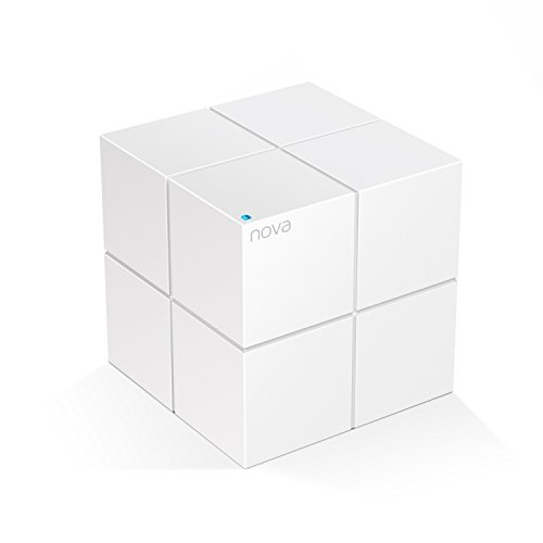 Tenda Whole Home Mesh WiFi System - Dual Band Gigabit AC1200 Router Replacement for SmartHome,Works with Amazon Alexa for 2000 sq.ft 2+ Room Coverage (MW6 1PK)