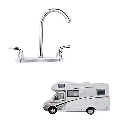 RV Non-metallic Kitchen Faucet Two Handle-8' Main Body-High...