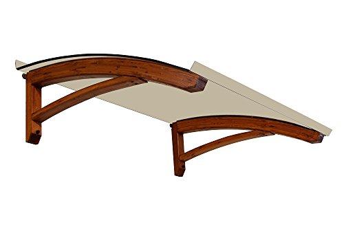 BELLHOUSE COPERTURE Marquesina de Madera Mod. Legno Onda Teck - Prof.90 Alt.42 Long.150 cm-BRONZADO