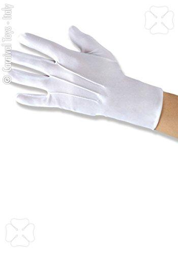 Guanti bianchi in cotone unisex mascotte Walt Disney