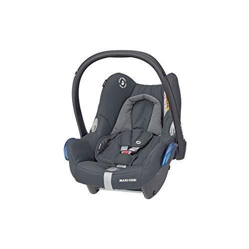 Maxi-Cosi CabrioFix Babyschale, Baby-Autositze Gruppe 0+ (0-13 kg), nutzbar bis ca. 12 Monate, passend für FamilyFix-Isofix Basisstation, Essential Graphite (grau)