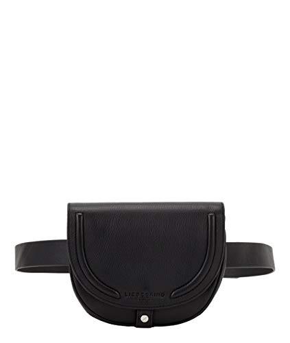 Liebeskind Berlin Damen Round Love Note - Belt Bag Umhängetasche, Schwarz (Black), 4x16x20 cm