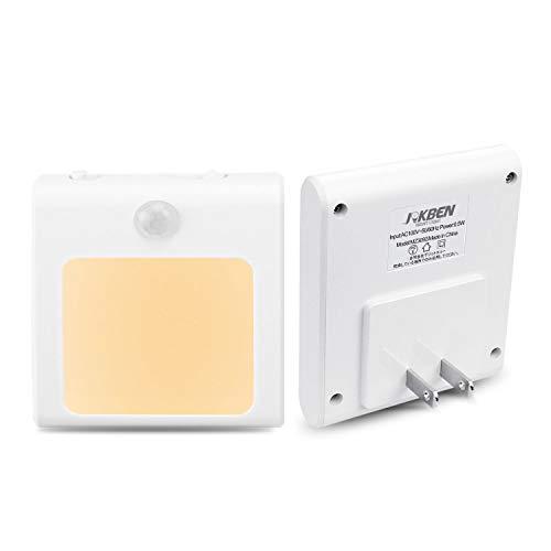 センサーライト 人感 足元灯 JOKBEN 三つモード コンセント 明るさ調節 LED 廊下 玄関 階段用 電球色 2個セ...