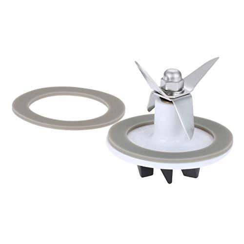 Dreld SPB-456-2 White Blade Cutting Cutter 2 Rubber Sealing Gasket Seal O-ring, Replacement Part Fit for Cuisinart Blenders Models # BFP703 BFP-703 BFP703B BFP-703CH SPB7 SPB-7BK CB8 CB9 BFP-703