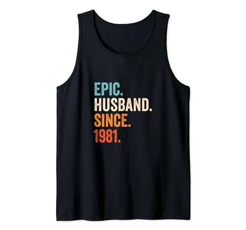 Hombre Epic Husband Since 1981 | 40 aniversario de boda 40 años Camiseta sin Mangas