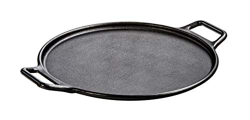 Lodge Pre-Seasoned Cast Iron Baking Pan With Loop Handles, 14', Black