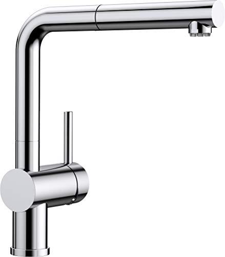 BLANCO LINUS-S – Küchenarmatur mit herausziehbarem Auslauf – Niederdruck – Chrom – 512200
