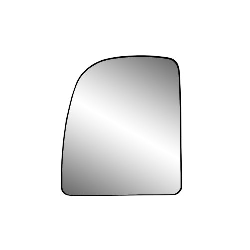 Fit System Driver Side Non-Heated Mirror Glass w/Backing Plate, Econoline, Ford Excursion, F250, 350, 450, 550 Super Duty Pick-Up, 8 3/8' x 7 1/8' x 10 5/16' (Towing Mirror top Lens)