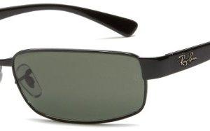 Ray-Ban Rb3364 Rectangular Metal Sunglasses 25