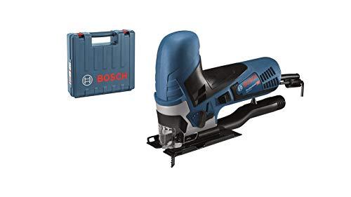 Bosch Professional 060158G000 Scie Sauteuse GST 90 E (650 W, 1 Lame, Pare-éclats, Profondeur de Coupe dans le Bois : 90 mm, dans Coffret) Bleu