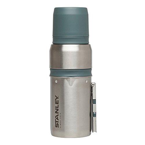 Stanley Mountain Mobiles Kaffeekocher-System mit Wasserkessel und Presse, 0.5 Liter, 18/8 Edelstahl, doppelwandige Vakuumisolierung, Espressokocher für Reise / Camping / Outdoor