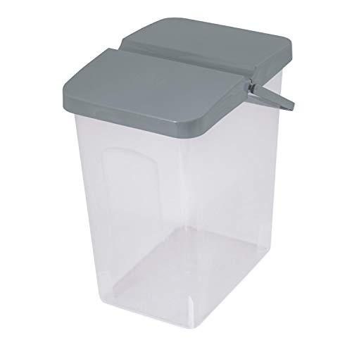 Branq 10 L Behälter Waschpulver Futterbehalter Unibox mit Deckel Aufbewahrungsbox Bad Küche (Grau)