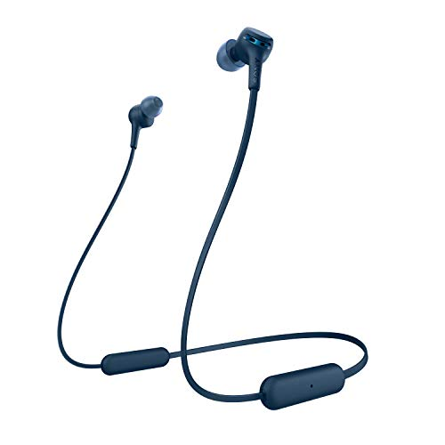 Sony WI-XB400 Wireless Extra Bass in-Ear Headphones with 15 hrs Battery, Quick Charge, Magnetic Earbuds, Tangle Free Cord, BT Ver 5.0, Work from Home,Bluetooth Headset with Mic for Phone Calls (Blue)