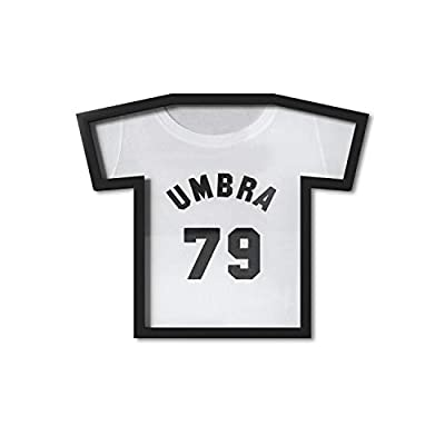 UNIQUE T-SHIRT SHAPED FRAME: Display your favorite t-shirt (youth sizes small to large) on any wall with this modern black frame designed to create a memorable piece of wall art while still preserving the iconic t-shirt shape TURN YOUR T-SHIRT INTO A...
