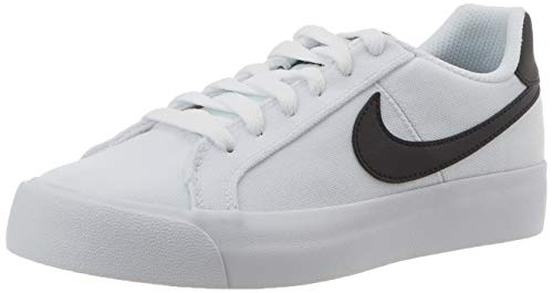Nike Court Royale AC Canvas, Zapatillas para Mujer, Blanco/Negro, 39 EU