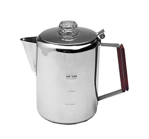 Texsport 9 Cup Stainless Steel Percolator Coffee Maker for...