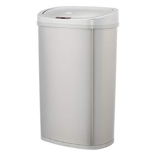 AmazonBasics Automatic Stainless Steel Trash Can - Rectangular, 50-Liter