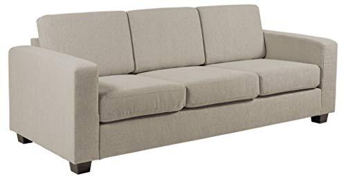 Amazon Brand - Movian Morat - Divano a 3 posti, 90 x 212 x 80 cm (Lu x La x A), tessuto color sabbia