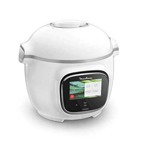 Moulinex Cookeo Touch Multicooker, intelligent, Hochdruck Touch weiß