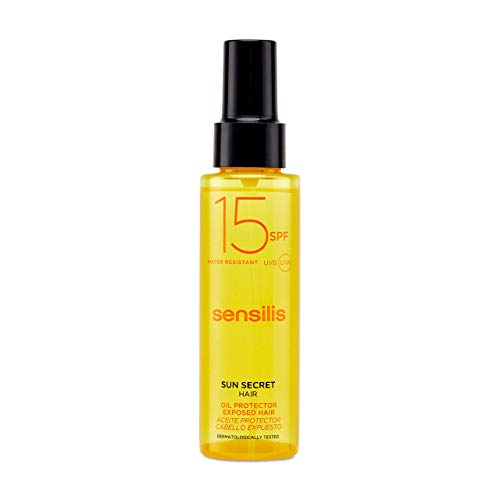 Sensilis Sun Secret - Aceite Protector para el Cabello con SPF15 - Protector, Nutritivo y...