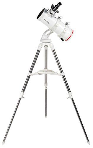 Bresser Spiegel Teleskop Messier NT-114/500 NANO, kompaktes und hochwertiges azimutales Spiegelteleskop mit Weitfeldoptik mit Edelstahl Felddreibeinstativ inklusive umfangreichem Zubehör
