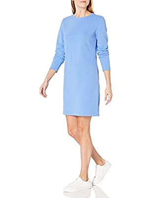 This classic dress in incredibly soft and comfortable French terry fleece is perfect for an effortless look that's ready to style Features long-sleeves, design lines and flattering side slits With a crew neckline, and ribbing at the neck, cuffs and h...