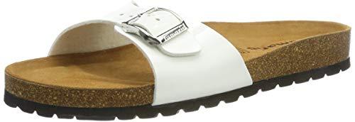 Tamaris Damen 1-1-27514-32 Pantoletten, Weiß (White Patent 123), 39 EU