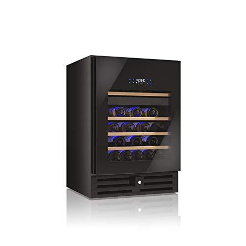 Cantinetta Vino Datron, Adatta a 46 Bottiglie, Cantinetta Vino Frigo Refrigerata, Linea Luxury, adatta sia ad incasso che a libera installazione
