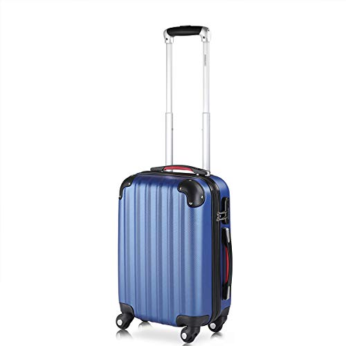 Monzana Hartschalenkoffer Trolley | mit Schloss | 4 Rollen | Alu-Teleskopgriff | Handgepäck Hartschale Reisekoffer Business Koffer